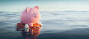 Piggy Bank On Lifebuoy